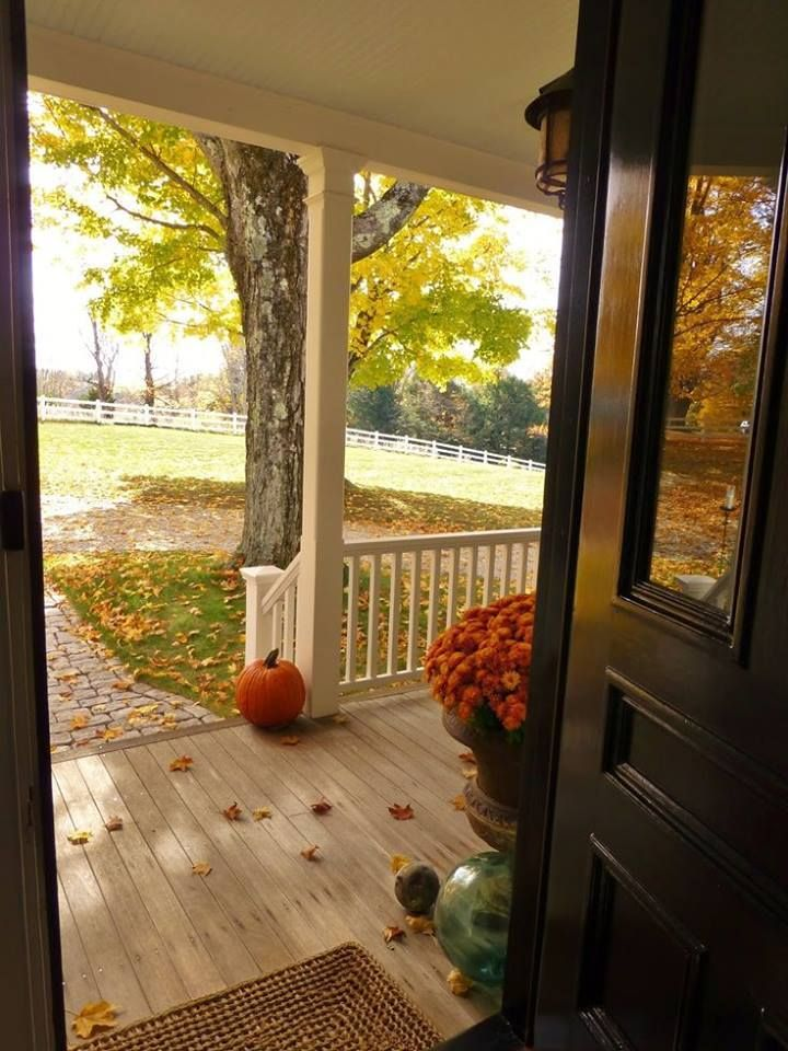 Fall front door view for the home pinterest front for The country porch com