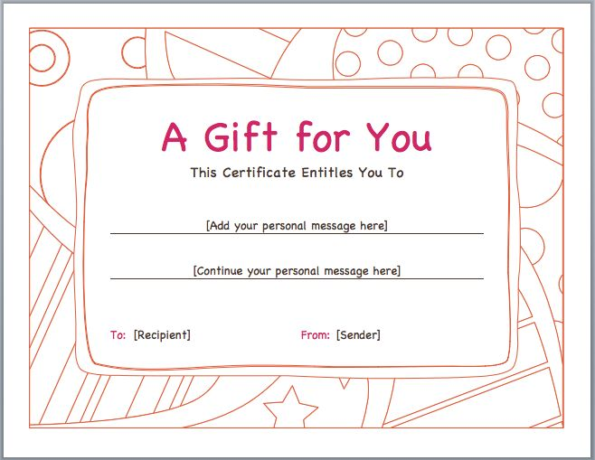 Business vouchers are basically for newly established enterprises - examples of gift vouchers