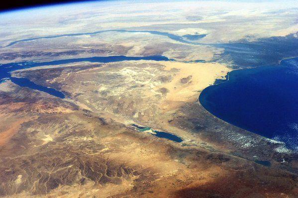 The Nile river & the Sinai peninsula, Egypt  Taken in 2014