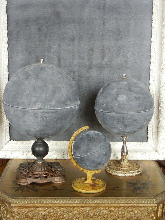 chalkboard globes- guest book