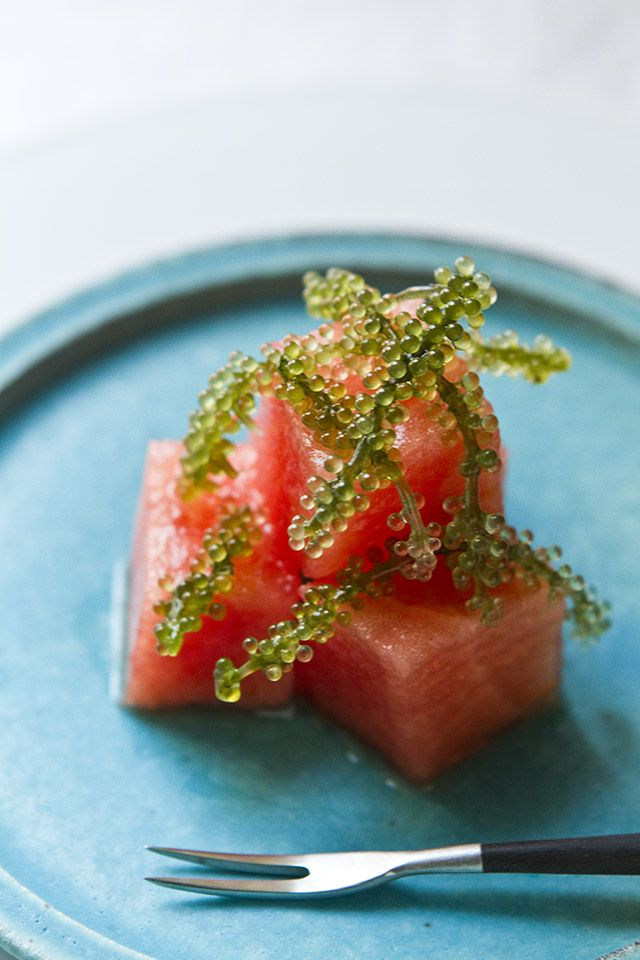 Diced Watermelon with Sea Grapes スイカと海ぶどう