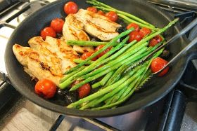 Food Lust People Love: Pan-fried Chicken with Bacon and Asparagus for #SundaySupper
