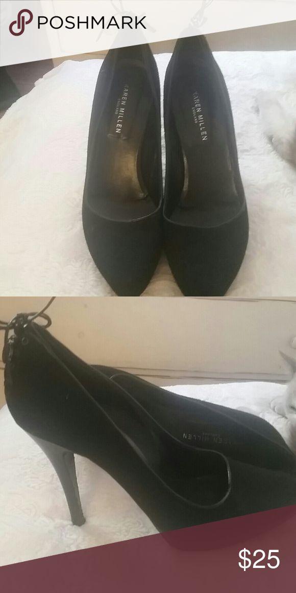 KAREN MILLER  black women  high heel Karen Miller Shoes Heels