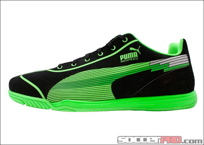Puma evoSPEED Star Indoor Soccer Shoes - Black with Fluo Green...$49.99