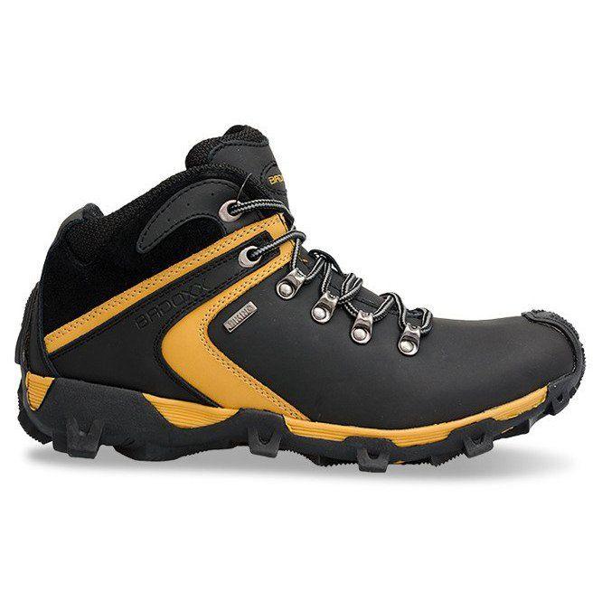 Ocieplane Wysokie Trekkingi 6660 Czarny Czarne Safety Shoes Shoes Mens Hiking Boots