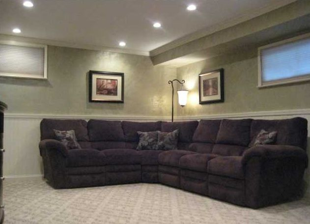 7 best den images on pinterest home ideas home living for Raised ranch basement ideas