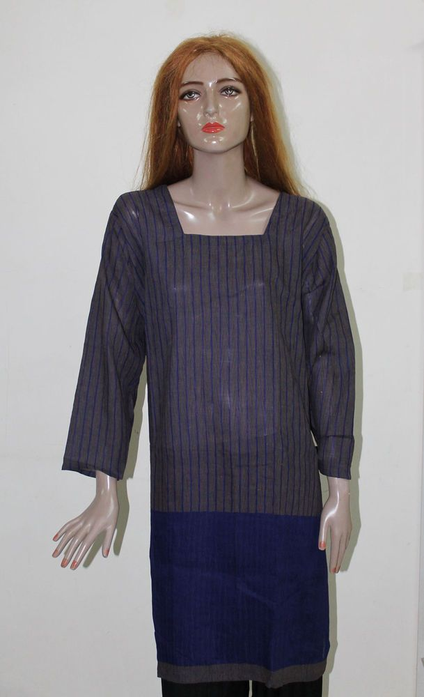 Grey India islamic clothing Salwar Kameez Punjabi dupatta Cotton Plus size 50  #WomenIndia #SalwarKameez