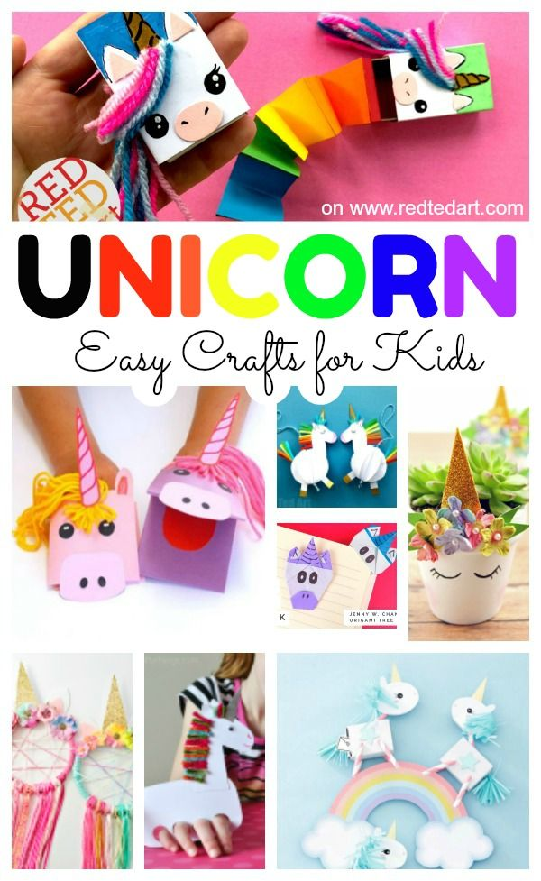 Easy Unicorn Crafts Red Ted Art Make Crafting With Kids Easy Fun Easy Arts And Crafts Tween Crafts Easy Diy Crafts
