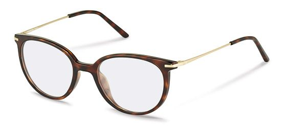 Modern Eyewear for women in Havana colours with a front made of acetate and golden temples.