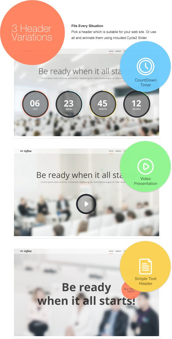 Site Templates - Infine - One Page Conference & Event Template | ThemeForest