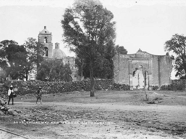 Ca. 1880 Iglesia de San Marcos Evangelista. Mexicaltzingo. William Henry Jackson. Library Of Congress. La Ciudad de México en el Tiempo | Flickr - Photo Sharing!