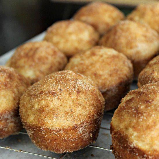 DONUT MUFFINS! – Mini muffins that taste like donuts!