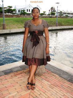 shweshwe wedding dress designs - Google Search