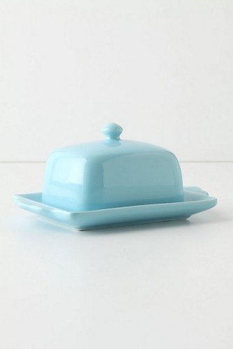 Butter dishes may be slightly old fashioned, but I adore their classic look. This porcelain one in sky blue makes for the perfect fridge-to-table presentation.