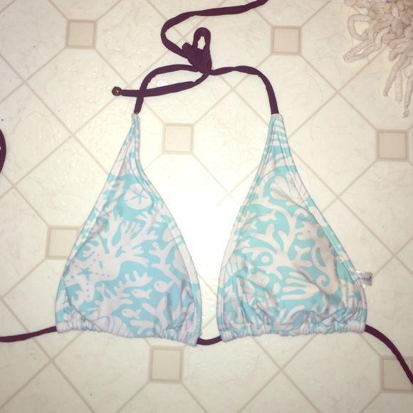 Vineyard Vines bikini top Blue and white triangle bikini top Vineyard Vines Swim Bikinis