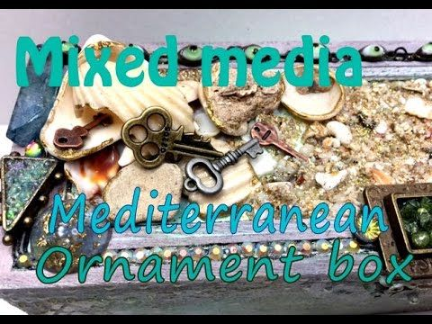 SOLD Mixed Media Mediterranean style wooden box #Gothica - YouTube