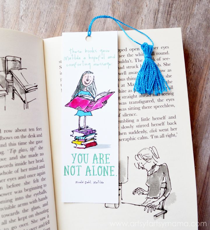 Free Printable Roald Dahl Bookmarks
