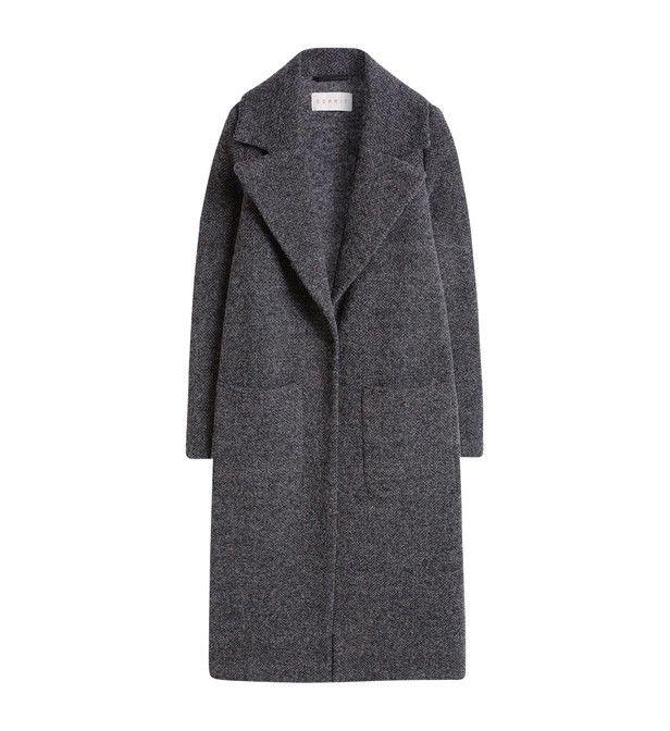 Manteau long à col tailleur
