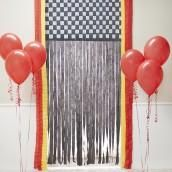 D.I.Y. Racing Door Decor - this is an amazing idea for an entry way for a Monster Truck or Nascar party!