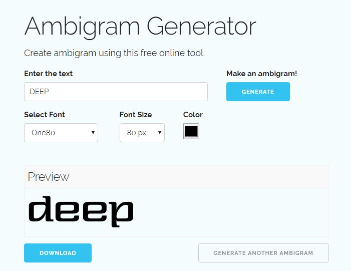 free ambigram generator online