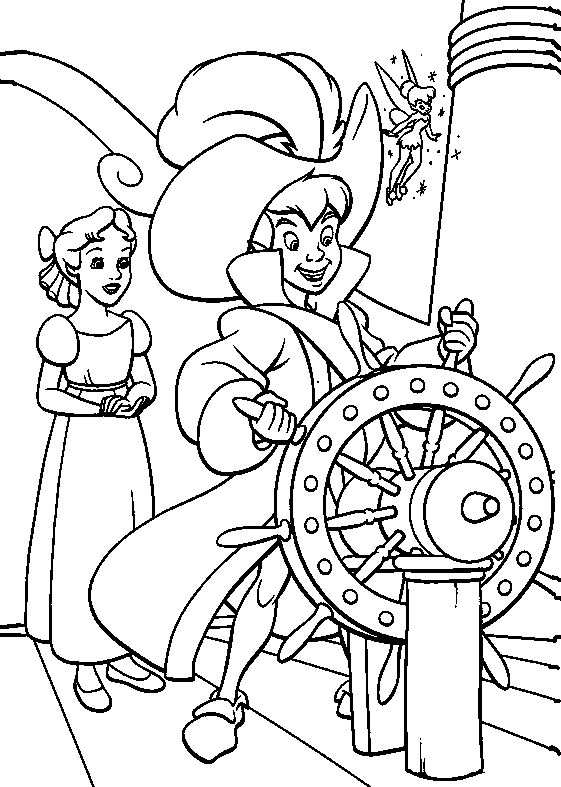peter pan boat driver coloring pages for kids printable peter pan coloring pages for kids