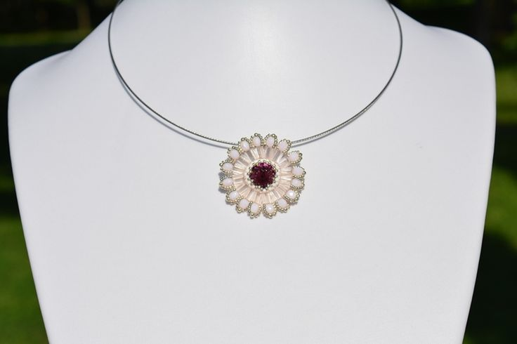 LUXURY ROSE-PURPLE SUN-STYLE PENDANT from luxurybeadjewelry.co.uk