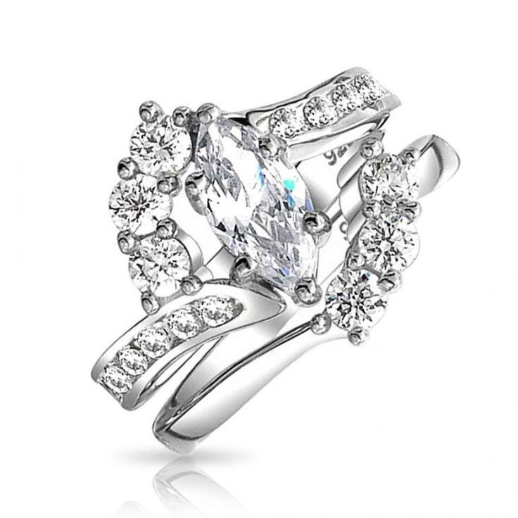 31 Beautiful Fake Diamond Wedding Rings That Look Real Best Cubic Zirconia