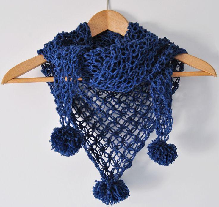 #shawl #scarf # winter #blue #woman #gift #crochet #wool #handmade