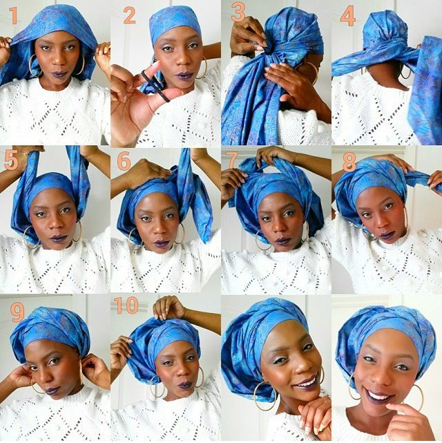 Attaché foulard tuto images