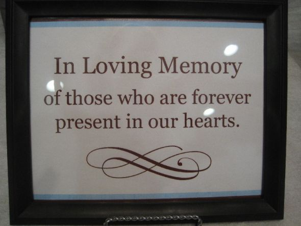 Memory Table Ideas in loving memory of those who are forever present in our hearts Need Decorating Ideas For Memorial Candle Display At Reception Wedding Candle Display Memory Wedding Candle