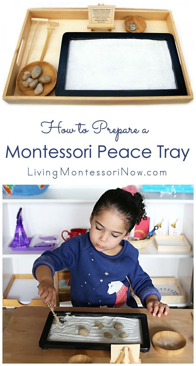 A Montessori peace tray can help even very young children start to experience peace and find a calm place whenever they need it. A peace tray is perfect for a variety of ages at home or in the classroom.