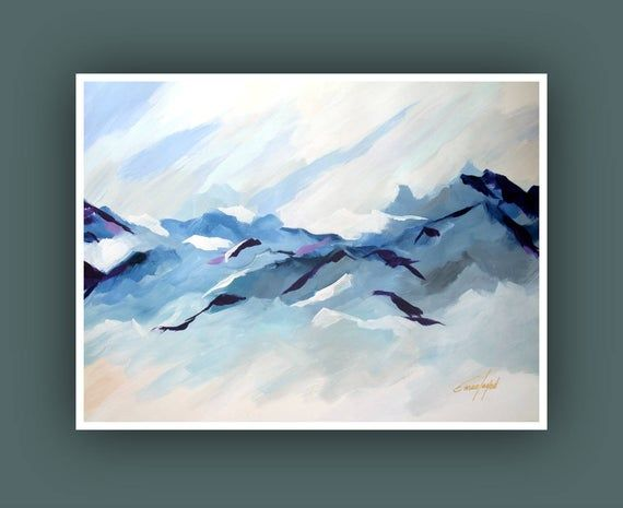 Printable Abstract Art Instant Digital Download Art Modern Art Prints Contemporary Art Mountain Painting Landscape Painting Fine Print Mountain Painting Acrylic Abstract Art Painting Techniques Abstract