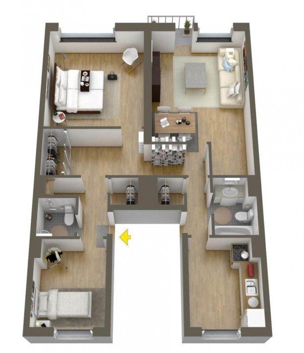 228 best Apartment Design images on Pinterest Floor plans
