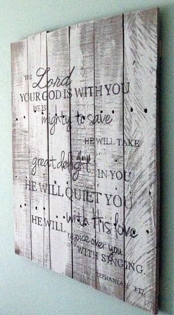 Hand painted wooden sign Bible verse by RefineYourPallet on Etsy