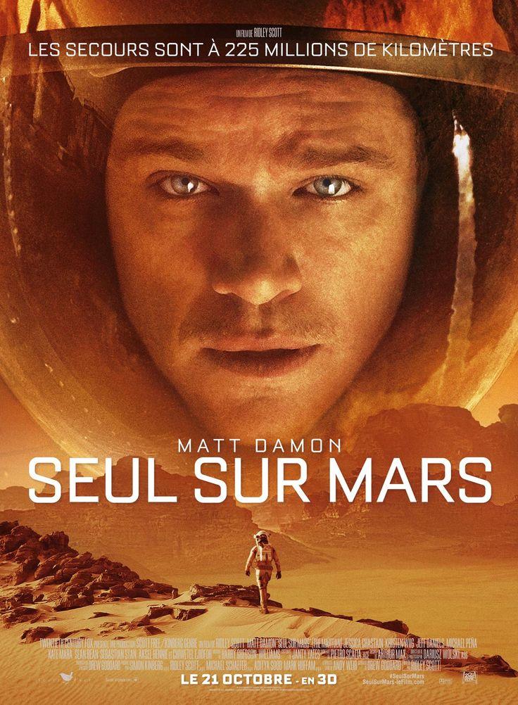 Seul sur Mars est un film de Ridley Scott avec Matt Damon, Jessica Chastain. Synopsis : Lors d'une expédition sur Mars, l'astronaute Mark Watney (Matt Damon) est laissé pour mort par ses coéquipiers, une tempête les ayant obligés à décoll
