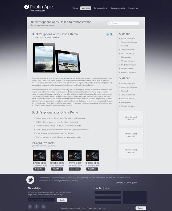 Dublin iPad Apps – Blog Inner Page