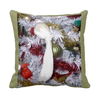 Christmas Bird Decorations American MoJo Pillows