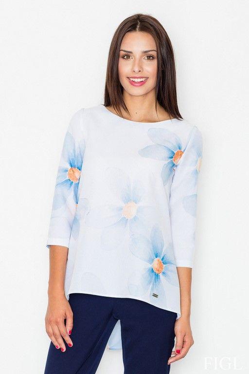 Elegancka bluzka z delikatnymi kwiatami