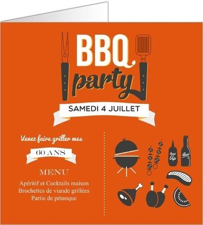 1000 ideas about carte invitation on pinterest - Idees pour barbecue party ...