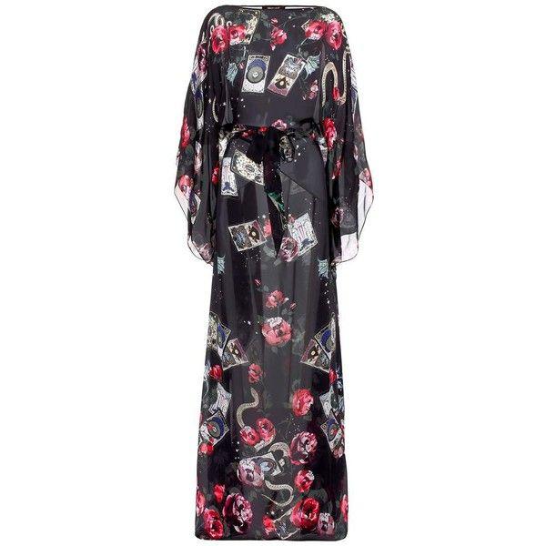 Roberto Cavalli Printed Silk Kaftan Dress (8,770 CNY) ❤ liked on Polyvore featuring dresses, multicoloured, multicolored dress, silk caftan dress, silk dress, roberto cavalli kaftan and roberto cavalli dresses