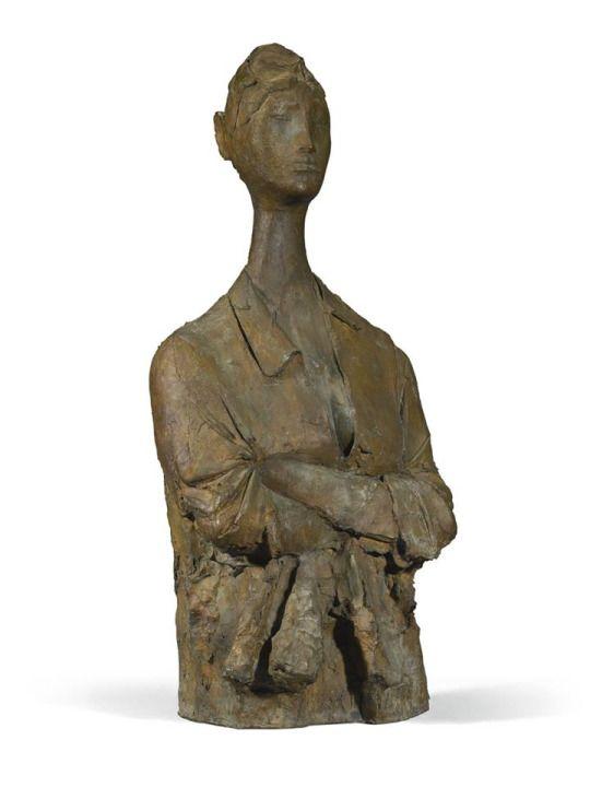 Giacomo Manzu (1908-1991) Buste d'une Japonaise, ca. 1980