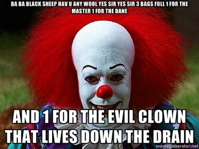 pennywise the clown pictures | ... CLOWN THAT LIVES DOWN THE DRAIN - Pennywise the Clown | Meme Generator