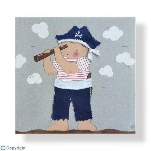 Cuadro infantil personalizado ni o pirata ref 12008 01 - Cuadros para habitaciones de ninos ...