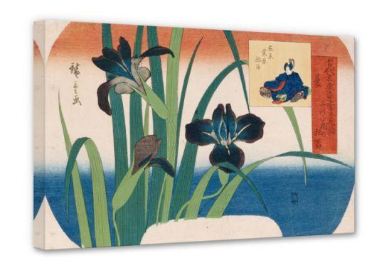 Stampe su tela - Hiroshige - Estate, iris presso Yatsuhashi