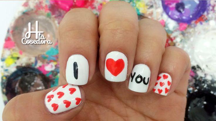 Nail Art San Valentin - Colaboración con Makeupcitypop. http://bit.ly/1C6rCZS ¡Comparte el video con todas tus amigas y no olvides suscribirte es GRATIS!  --- Compra en mi tienda online -- Envío GRATIS a todo el mundo --  ♥ Tienda online de H la Cosedora : http://bit.ly/1zrRnCS