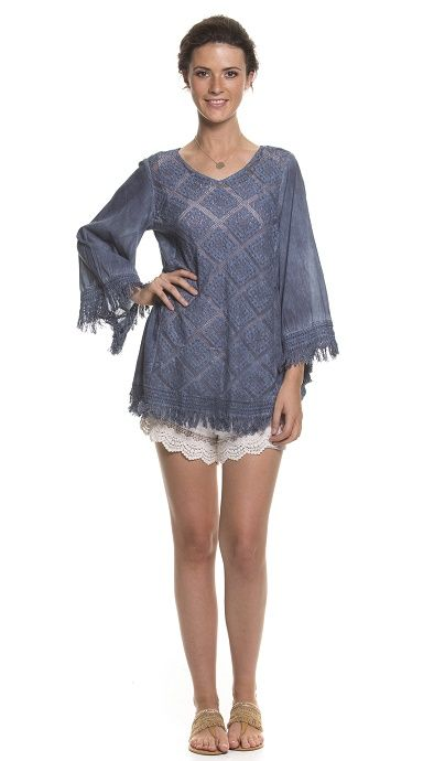 Holiday Clothing Poni Cotton Top In River
