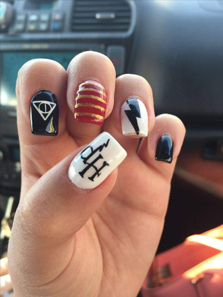 Harry Potter nail design by Levon nail spa