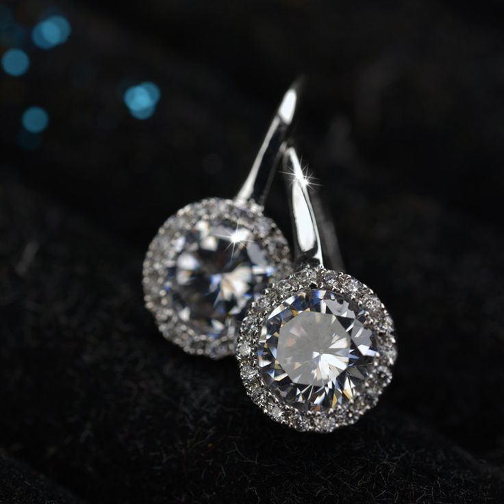 Earrings - Platinum or 18K Rose Gold Plated, AAA-Rated Cubic Zirconia