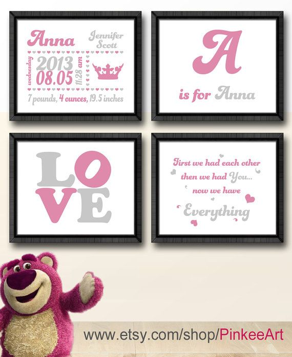 26 best baby names images on pinterest pregnancy baby names and baby date of birth print princess crown birth statistics announcement new baby gift negle Choice Image