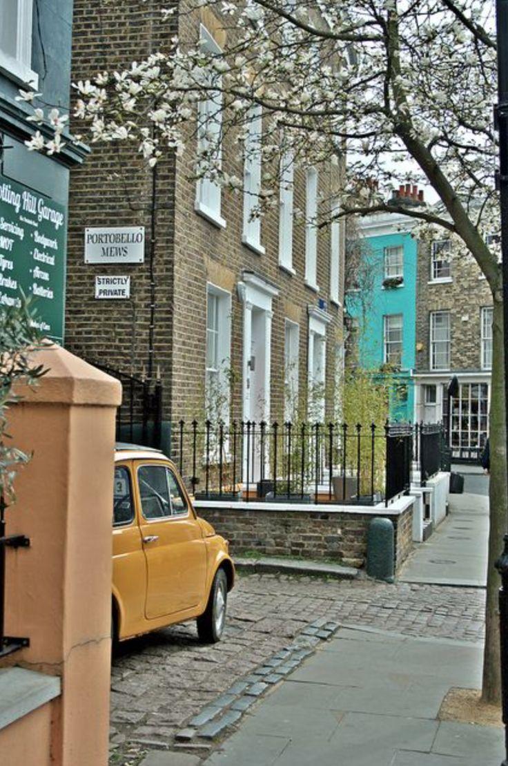A typical street view around Portobello Road